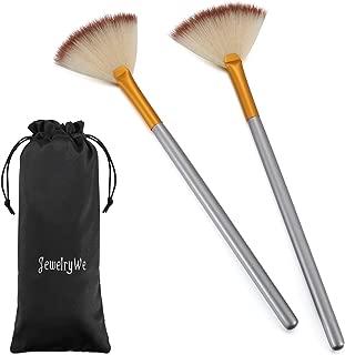 JewelryWe Pack of 2 Fan Mask Brushes Acid Applicator for Glycolic Peel/Masques