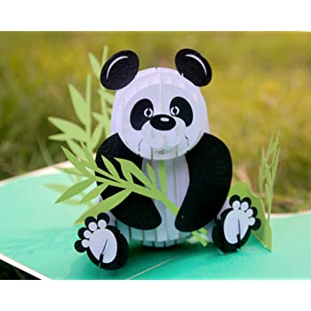 CUTPOPUP Panda Card Pop Up, Birthday Card Pop Up Card For for Children, Son, Nephew, Kids,Teenager- A Remarkable Card With Artistic Design- Wonderful Birthday Gift For Children, Panda Lovers