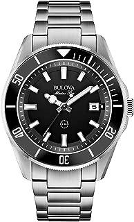 98B203 Mens Marine Star Silver Steel Bracelet Watch