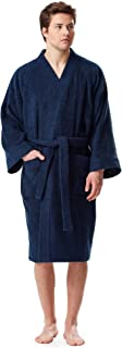 Arus Men's Short Kimono Bathrobe Turkish Cotton Terry Cloth Robe