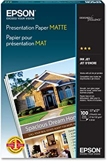 Epson Presentation Paper MATTE (11x17 Inches, 100 Sheets) (S041070)