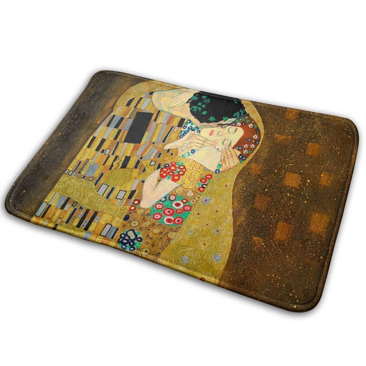 Gustav Klimt The Kiss Felpudo Antideslizante Casa Puerta de jardín Alfombra Alfombra de Puerta Alfombrillas de Piso: Amazon.es: Hogar