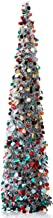 YuQi 5 Ft Pop up Artificial Trees Collapsible with Stand 【Clearance>70%】 Reusable for Christmas,Party,Next New Year,Weddin...