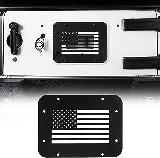 Hooke Road Jeep Wrangler Tailgate Vent, Spare Tire Mount Delete Plate for 2007-2018 Wrangler JK & Unlimited(US Flag)