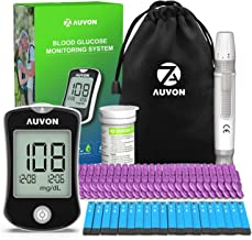 AUVON DS-W Blood Sugar Kit (No Coding Required), High-Tech Diabetes Blood Glucose Meter with 50 Test Strips, 50 30G Lancet...