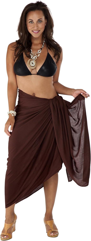 1 World Sarongs Womens Plus Size Fringeless (TM) Swimsuit Sarong