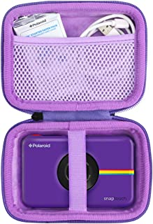Khanka Duro Viaje Estuche Bolso Funda para Polaroid Snap/Snap Touch 2.0 Touch Cámara Digital (Cremallera púrpura)