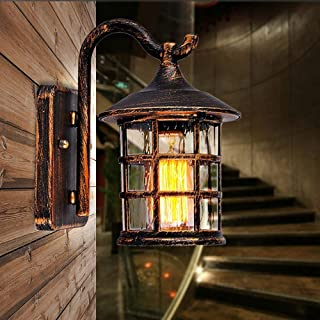 Exquisite Modern Lamps - Waterproof Retro Wall Lamp for Street Store Decoration Loft Style Metal Glass Lantern Outdoor LED...