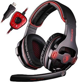 102580019e937a SADES SA903 Cuffie Gaming Headset 7.1 Virtual Surround Sound Cuffie da  gioco USB con microfono Cuffie