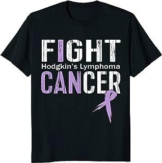 Hodgkins Lymphoma Awareness Shirt Fight Cancer Ribbon Tee
