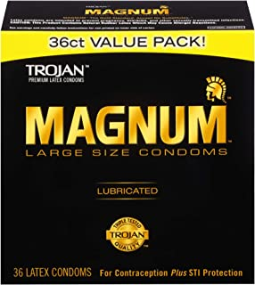 Trojan Magnum Large Size Lubricated Condoms - 36 count