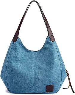 Fashion Women's Multi-pocket Cotton Canvas Handbags Shoulder Bags Totes Purses