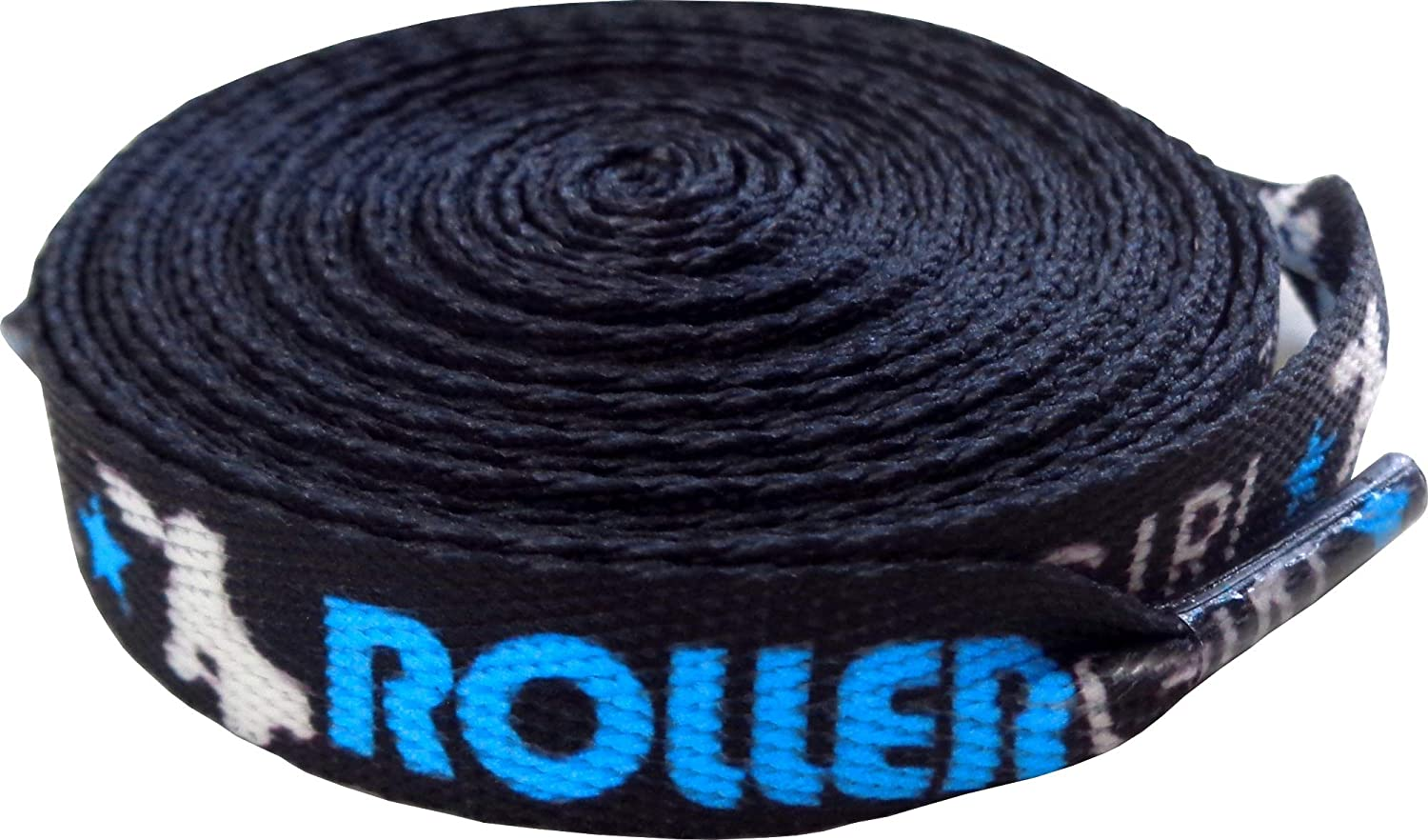 Roller Girl Shoe Laces NEW before selling ☆ - Black Aqua From Blue Ranking TOP16 Sourpuss White