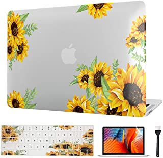 VAESIDA MacBook Pro 16 Inch Case Sunflower 2019, Floral Slim Case & Keypad Cover & Screen Protector Only Compatible with N...