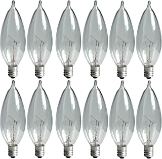 GE Lighting Crystal Clear 76239 60-Watt, 650-Lumen Bent Tip Light Bulb with Candelabra Base, 16-Pack