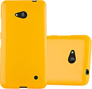 Cadorabo Case Works with Nokia Lumia 640 in Jelly Yellow – Shockproof and Scratch Resistant TPU Silicone Cover – Ultra Slim Protective Gel Shell Bumper Back Skin