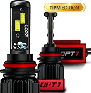 OPT7 Fluxbeam CORE 9007 LED Headlight Bulbs TIPM Resistors Kit with FX-7500 CREE Chip Plug-N-Play Conversion Kit- for Dodge Ram Jeep Chrysler-6,000LM 6000K Cool White-Built. Not Bought-1 Year Warranty