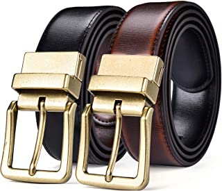 "Beltox Men's Belts Reversible Leather 1.25"" Wide 1 for 2 Male Casual Strap"