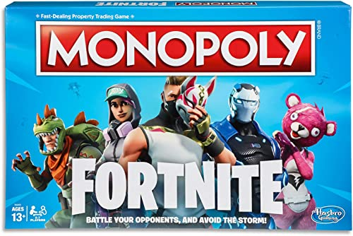 Monopoly Fortnite by Epic Games Edition - Board Games - Tilted Towers, Storm Cards, Pay in HP - 2 to 7 players - Kids...