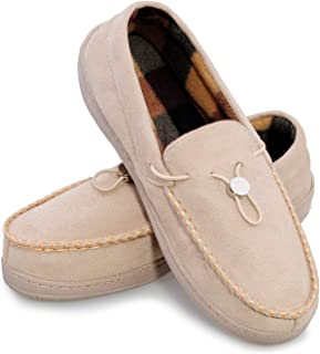 Mens Moccasin Slippers Indoor Outdoor Loafer Shoes