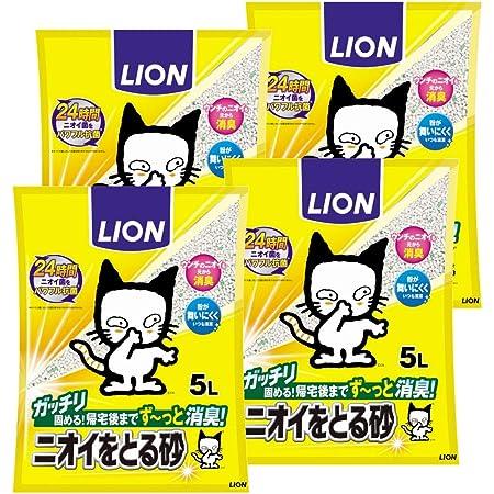 ライオン (LION) ニオイをとる砂 猫砂 5L×4袋 (ケース販売)