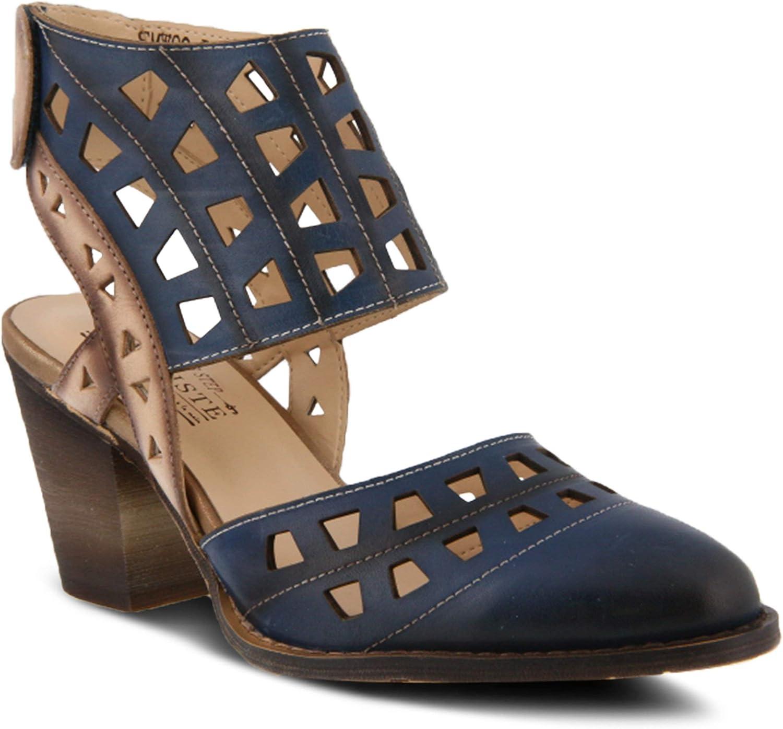 L'ARTISTE Women's Distinctive Leather Ankle Strap Sandal