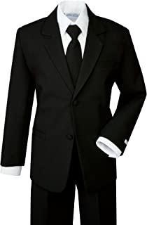 Spring Notion Boys' Classic Fit Formal Dress Suit Set Black