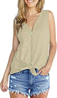 Maysoar Women's Tank Tops Summer Casual Shirts for Women Loose Blouses