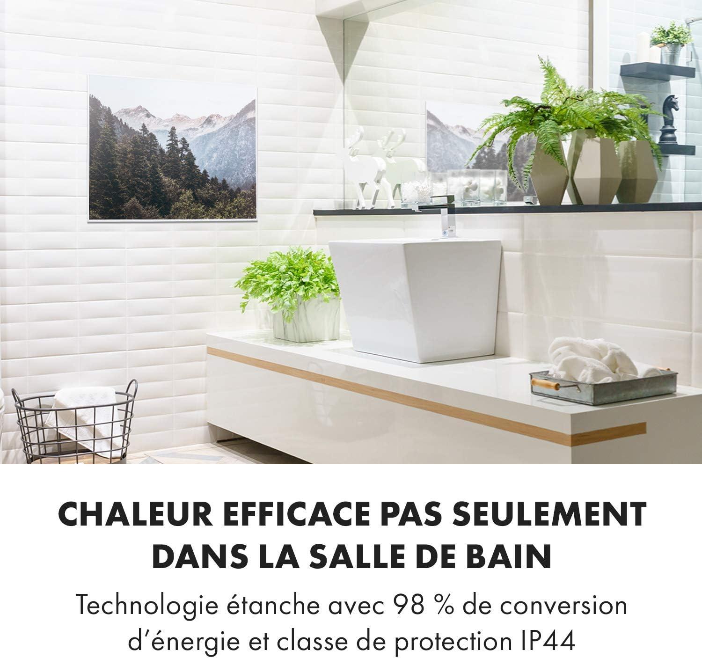 contr/ôle par Application 80x60 cm 500 W Surface Design 10 m/² KLARSTEIN Wonderwall Air Art Smart Silencieux Design: Fleurs damandier Panneau Chauffant /électrique Infrarouge