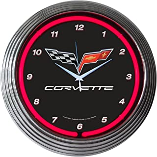Neonetics Cars and Motorcycles Corvette C6 Neon Wall Clock, 15-Inch