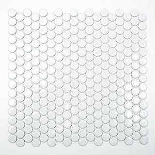 mosaico azulejos cerámica botón blanco brillante para