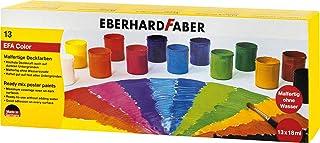 Eberhard Faber 575613 gotowe do malowania farby kryjącej, 13 pojemników, każdy po 18 ml farby, kolorowe
