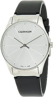 Calvin Klein Men's Quartz Watch, Analog Display and Leather Strap K4D211C6