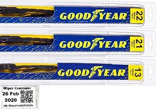 Premium - Windshield Wiper Blade Bundle - 4 Items: Driver, Passenger & Rear Blades & Reminder Sticker fits 1996-2004 Nissan Pathfinder