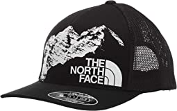 TNF Black/TNF White Mountain Print