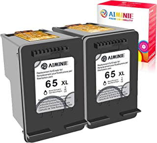 AIMINIE Remanufactured Ink Cartridge Replacement for HP 65XL 65 XL Black to Use with DeskJet 2600 2622 2652 3722 3755 3752...