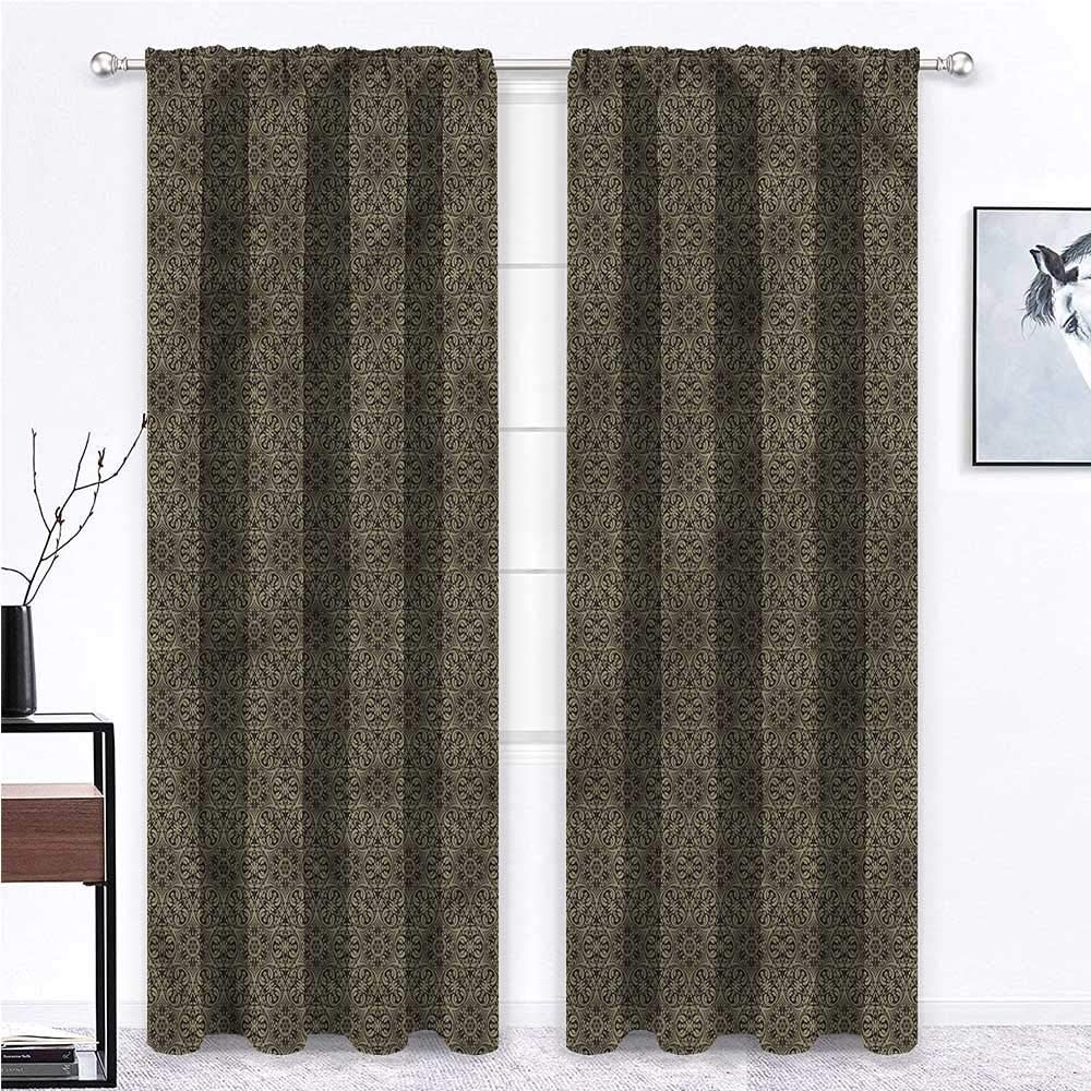 GugeABC Patio Door Curtains Damask High Virginia Beach Mall quality new Room Bedroom Living for