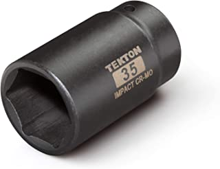 TEKTON 1/2 Inch Drive x 35 mm Deep 6-Point Impact Socket | 4935 Brand TEKTON