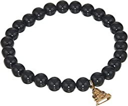 Happy Buddha Black Agate Bracelet