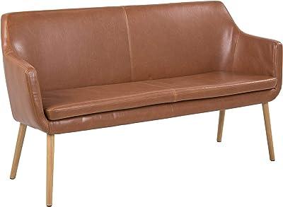 AC Design Furniture Trine Panca per Divano, Legno, Marrone, 159 x 56 x 86 cm