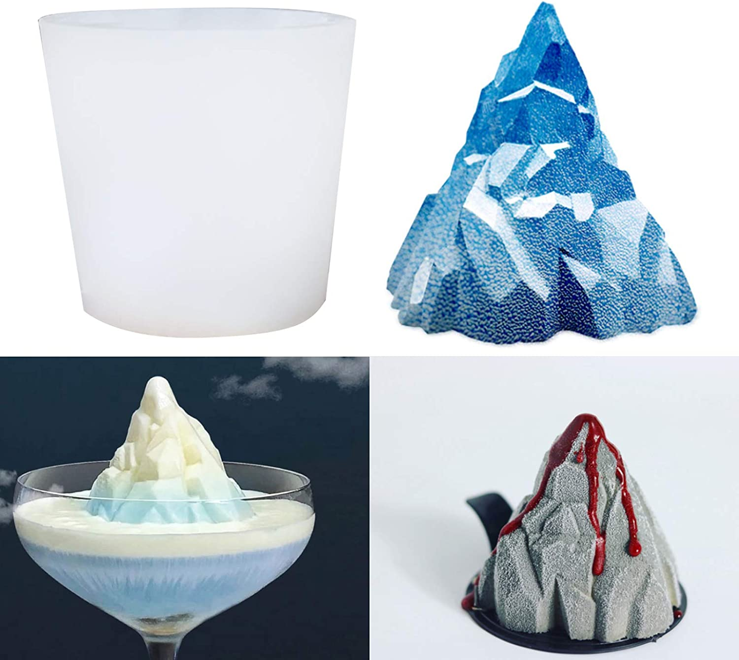 Sunsor 3D Snow Mountain Resin Volcano Mold Mail order cheap Max 71% OFF Silicone Casting Moul