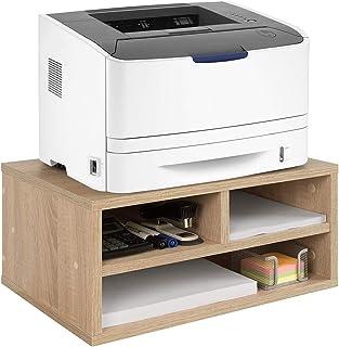 COMIFORT Support pour Imprimante - Rehausseur Pratique pour Fax avec Grandes Étagères de Rangement, Très Robuste, Style Mo...