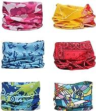 Sea Team 6-pack Surtido 18 en 1 Versátil Fibra de poliéster Deportes y sombreros casuales - Se pueden usar como polainas para el cuello, pañuelos, pasamontañas, máscaras y más