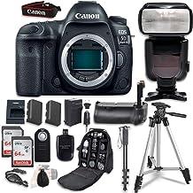 Canon EOS 5D Mark IV Digital SLR Camera Bundle (Body Only) + Professional Accessory Bundle (14 Items) (Renewed)