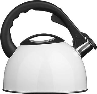 Premier Housewares Whistling Kettle, 2.5 L - White