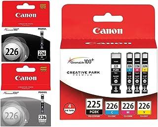 Genuine Canon PGI-225/CLI-226 Ink Tank Combo Pack (4530B008) + Canon CLI-226 Black Ink Tank (4546B001) + Canon CLI-226 Gra...