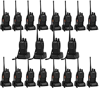 Image of Ansoko 20 Pack Walkie talkies Long Range with Earpiece Rechargeable 2 Way Radio UHF 400-470MHz 16-Channel for Outdoor Warehouse Factory Security Com Travel etc.(Pack of 20)