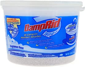 DampRid Fragrance Free Moisture Absorber 4 lb. Hi-Capacity Bucket - For Fresher, Cleaner Air in Large Spaces