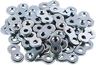 L Continue Figure 8 Fastener or Table Fasteners, Heavy Duty Steel and Galvanized Exterior. (50 Pack)