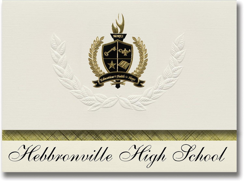 Signature Ankündigungen hebbronville High School (hebbronville, TX) Graduation Ankündigungen, Presidential Stil, Elite Paket 25 Stück mit Gold & Schwarz Metallic Folie Dichtung B078WFWPHF    | Adoptieren